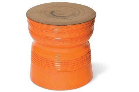 Metallic Orange Ringed Table