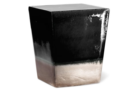 Ceramic  Square Cube  308FT228P2BM, Black, Metallic