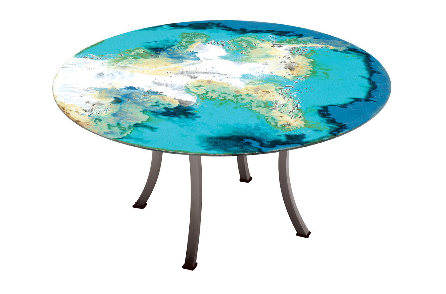 Etna Round Table Taupe 801FT001P2OC 2