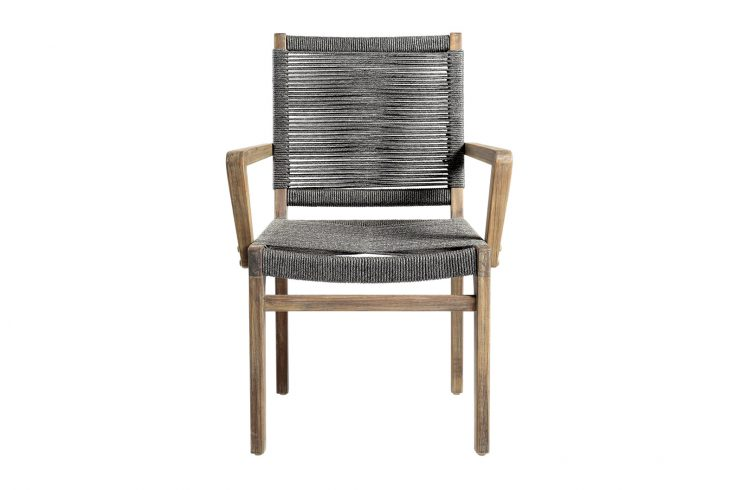 Oceans Dining Armchair Front 504FT032P2G