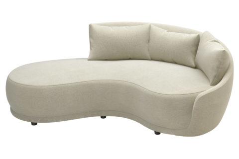 fizz grand royal one arm sofa w bumper 105FT001P2 SWB RAF