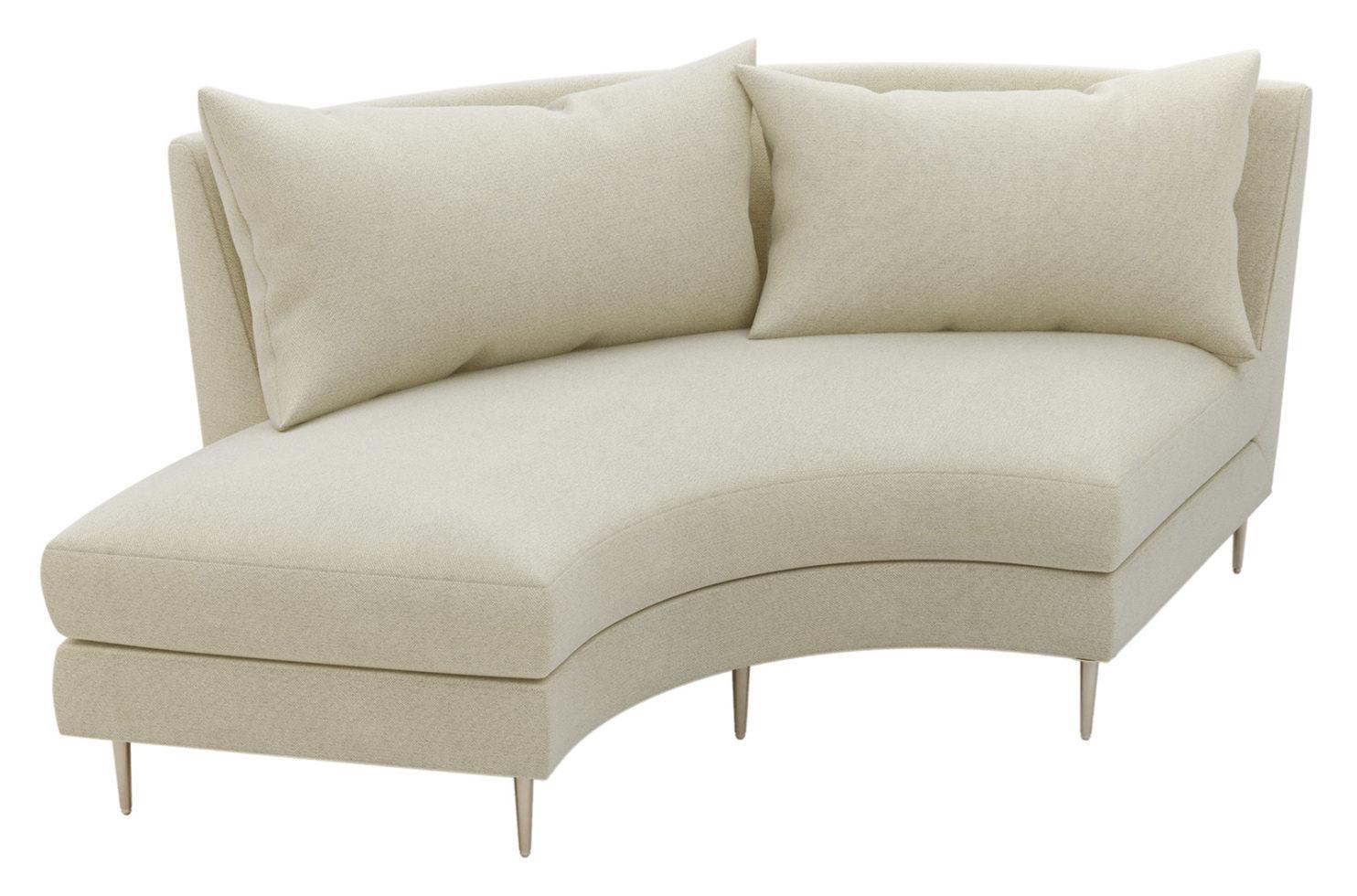 fizz mimosa armless sofa w bumper 105FT003P2 AS LSB