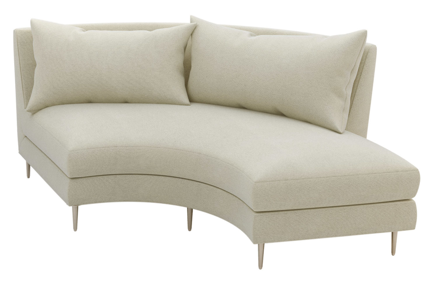 fizz mimosa armless sofa w bumper 105FT003P2 AS RSB