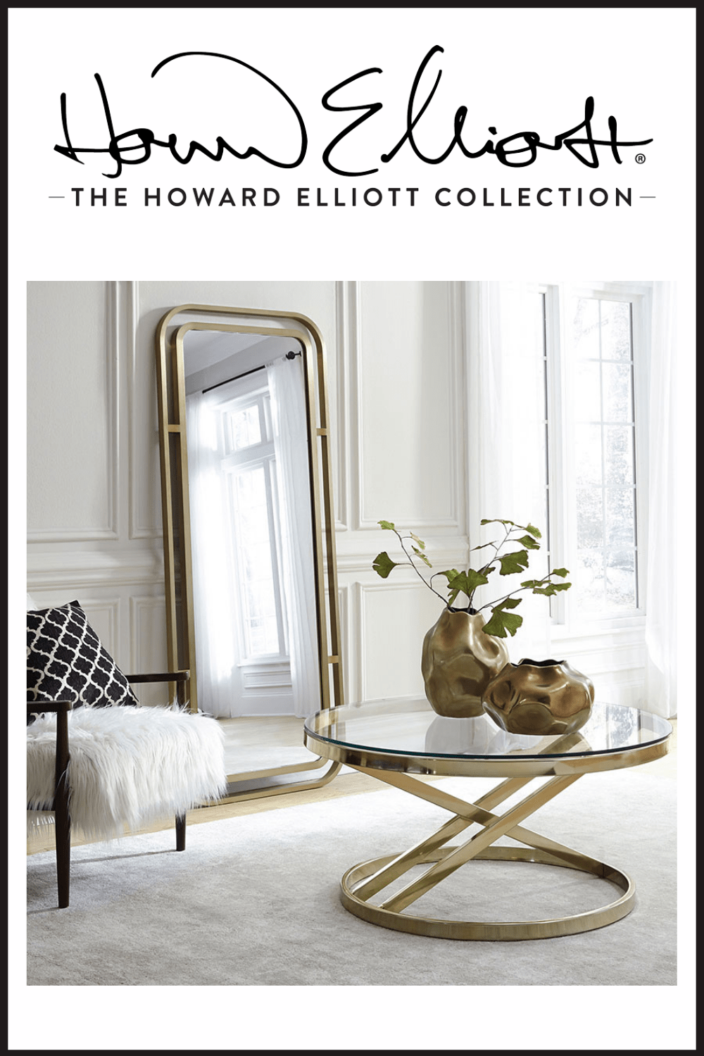 The Howard Elliott Collection mirror and table