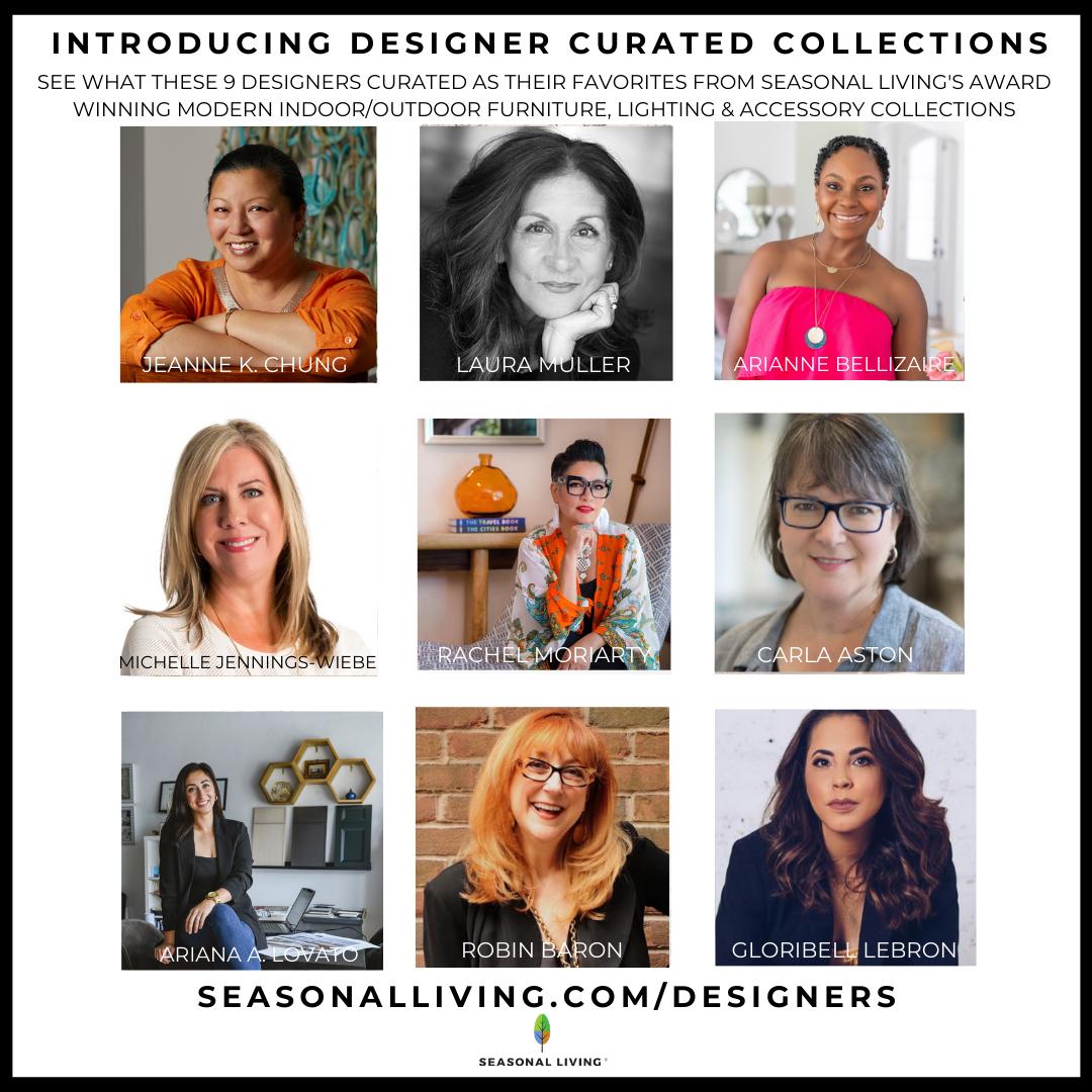 The 11 participating designers in Seasonal Living Magazine's Luxury Virtual Designer Showhouse