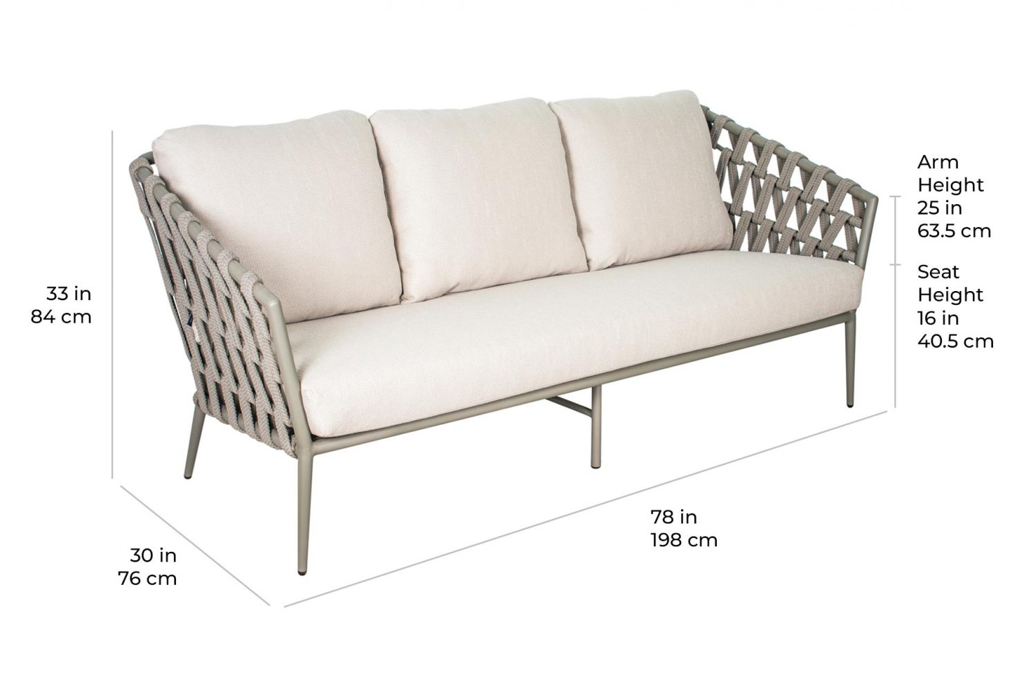 arch andaman sofa 620FT066P2 scale dims