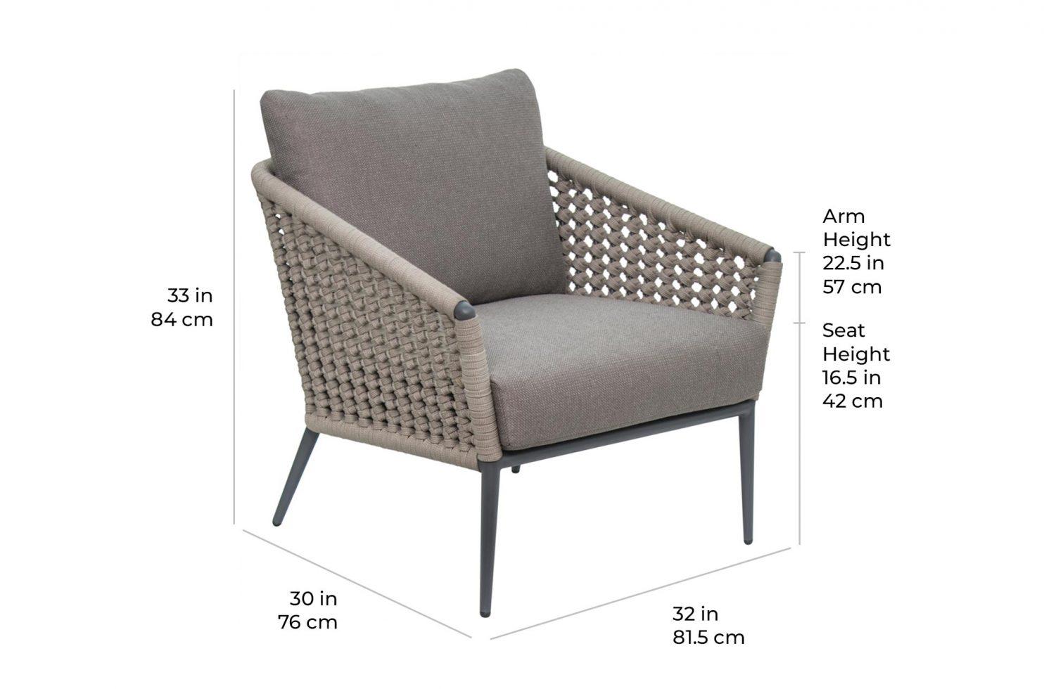 arch antilles chair 620FT017P2 scale dims