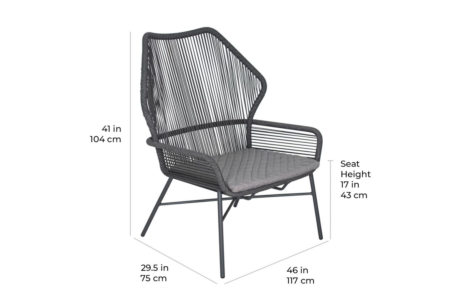arch danish lounge 620FT075P2 scale dims