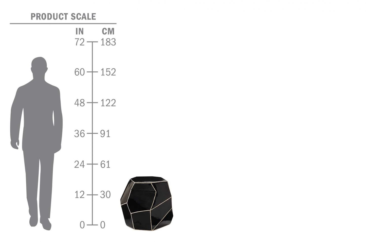 cer geo stool 308FT346P2BW scale human