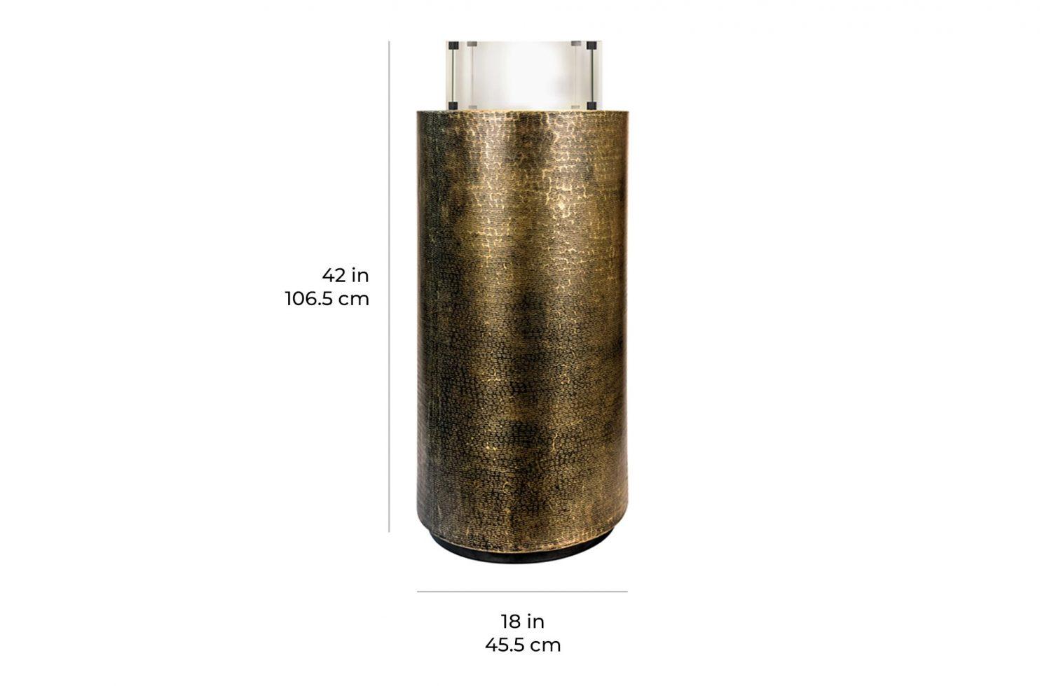 ingot pedestal aztec 520FT011P2AB 36 scale dims