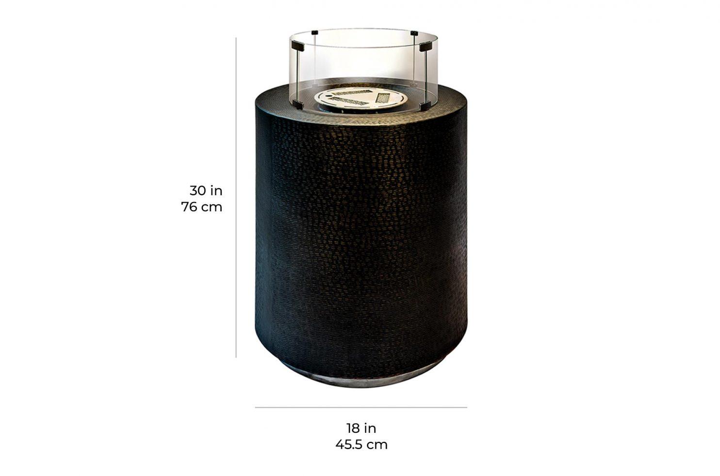 ingot pedestal nubian 520FT011P2N 24 scale dims