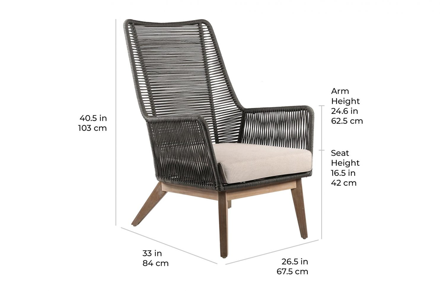 marco polo lounge chair E50499415 scale dims