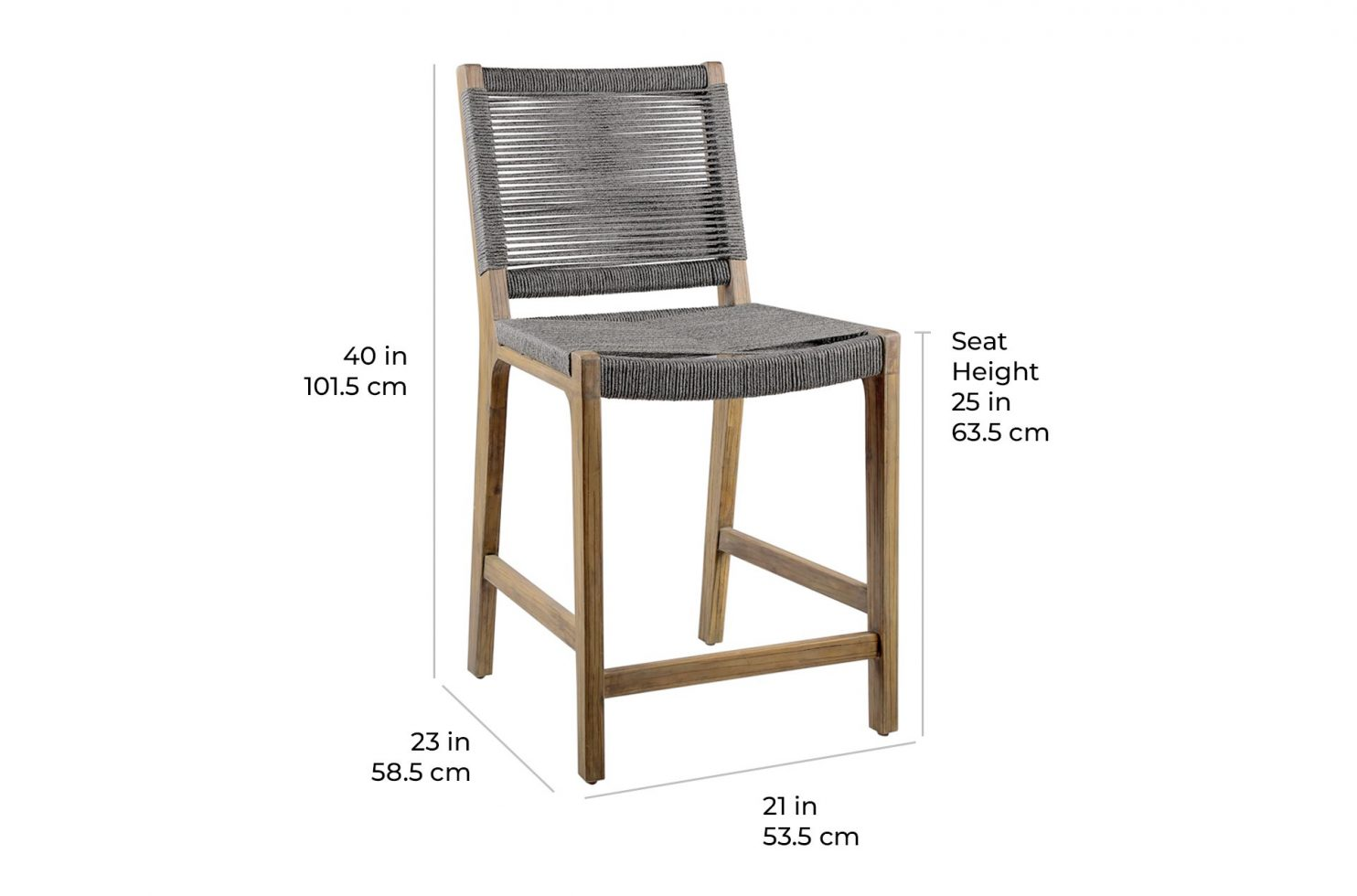 oceans counter chair 504FT411P2G E scale dims