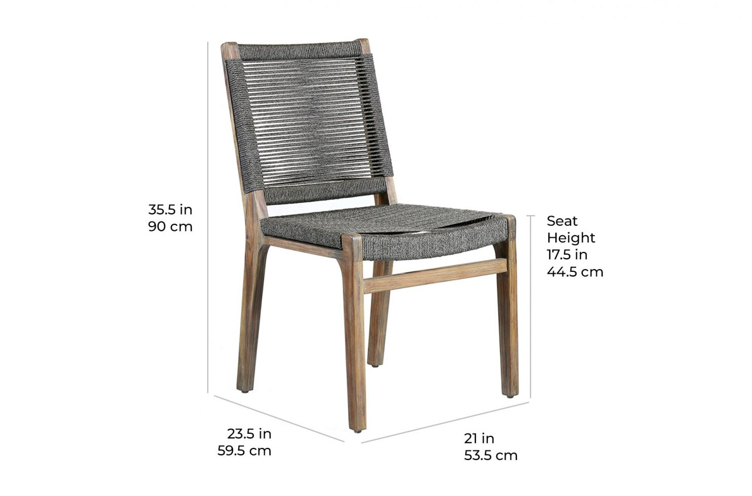 oceans side chair E50498031 scale dims
