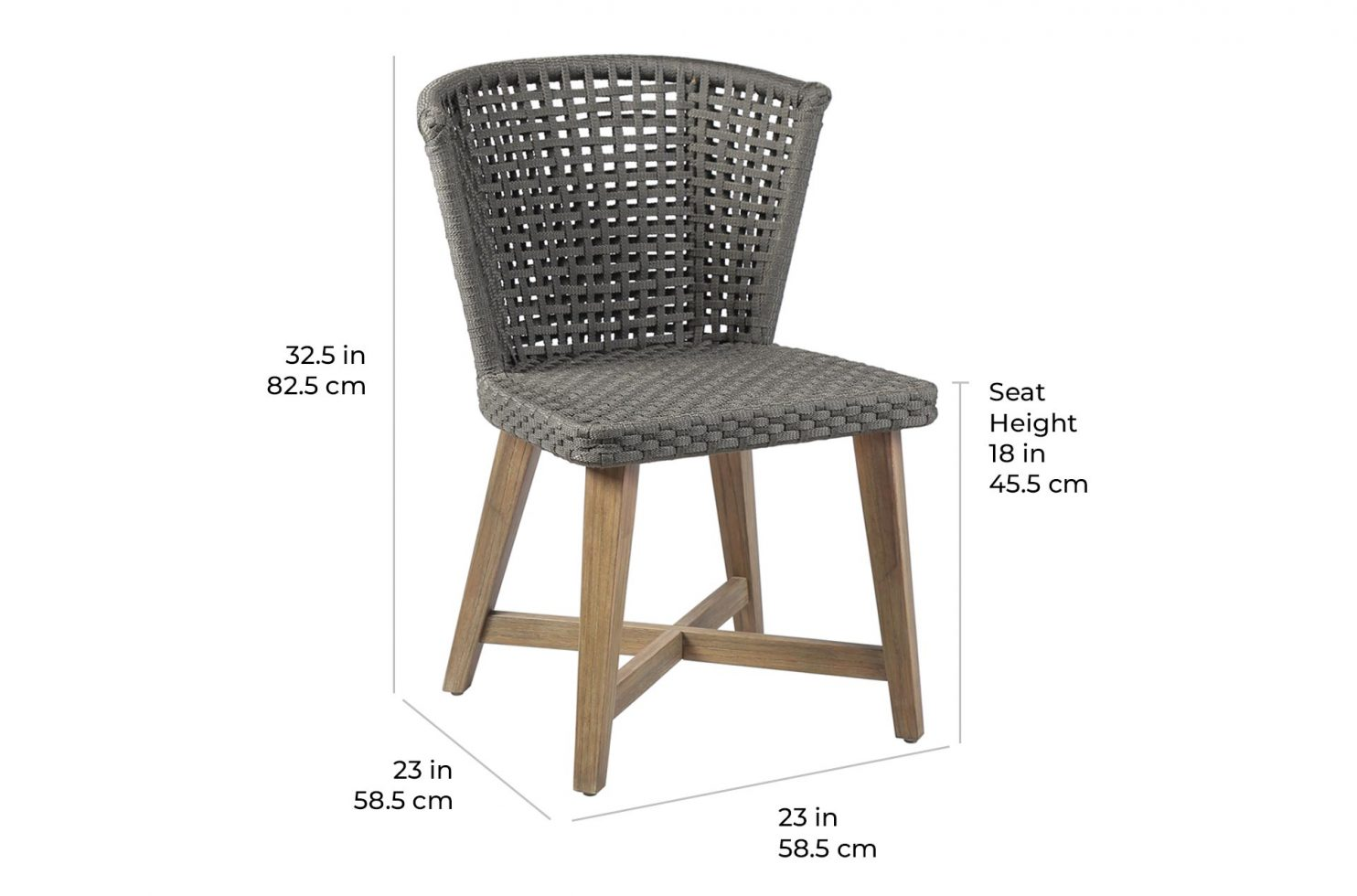 pioneer bistro chair 504FT402P2 E scale dims