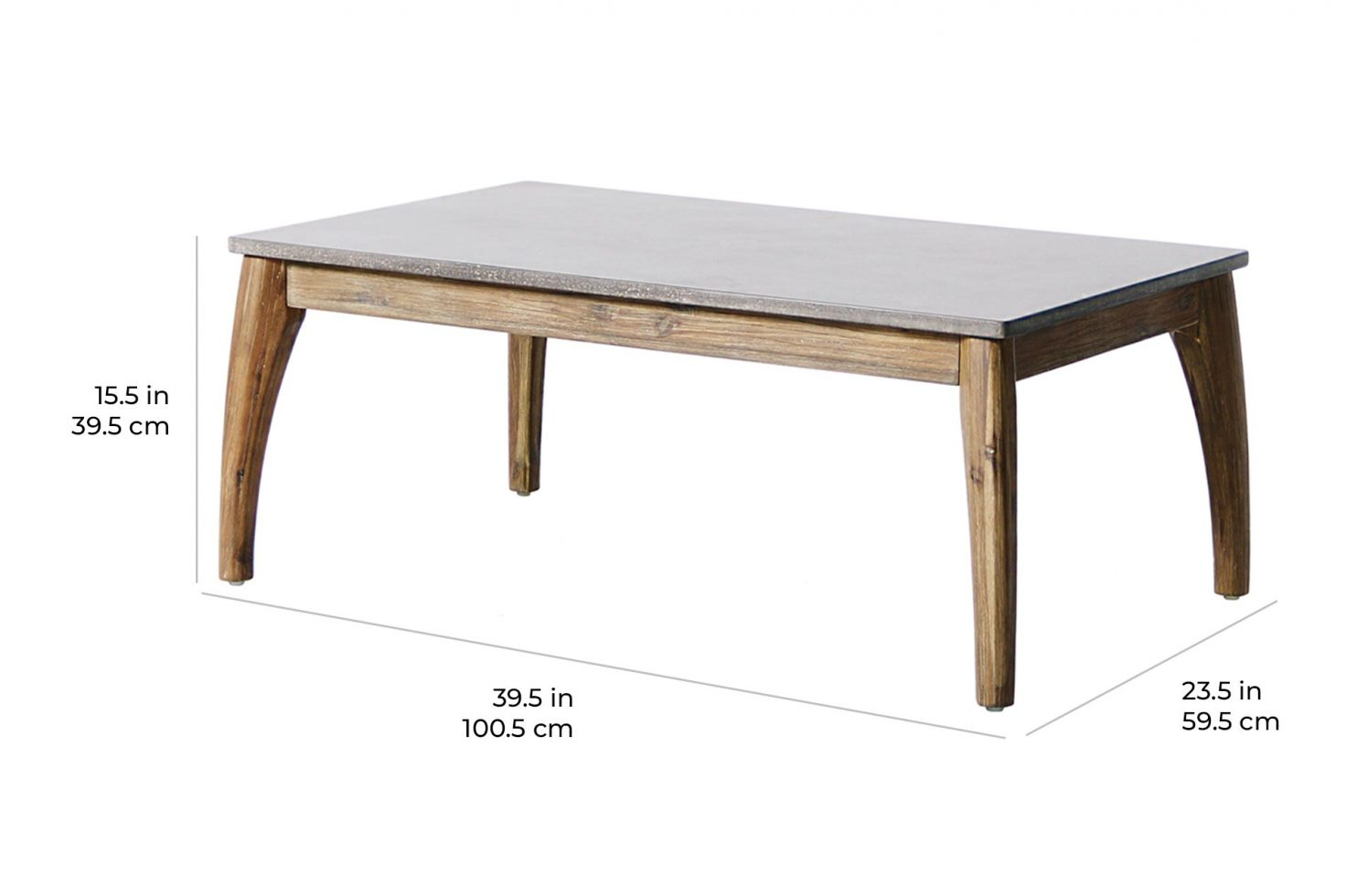 wings coffee table E50499003 scale dims