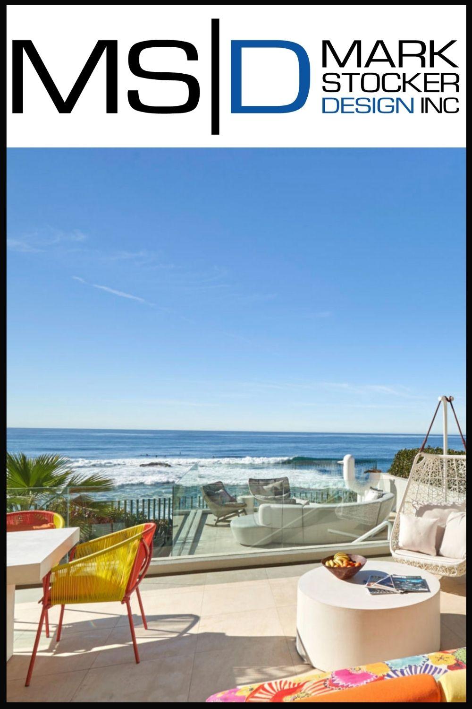 Outdoor living area in La Jolla, designed by Mark Stocker, featuring Seasonal Living outdoor furniture