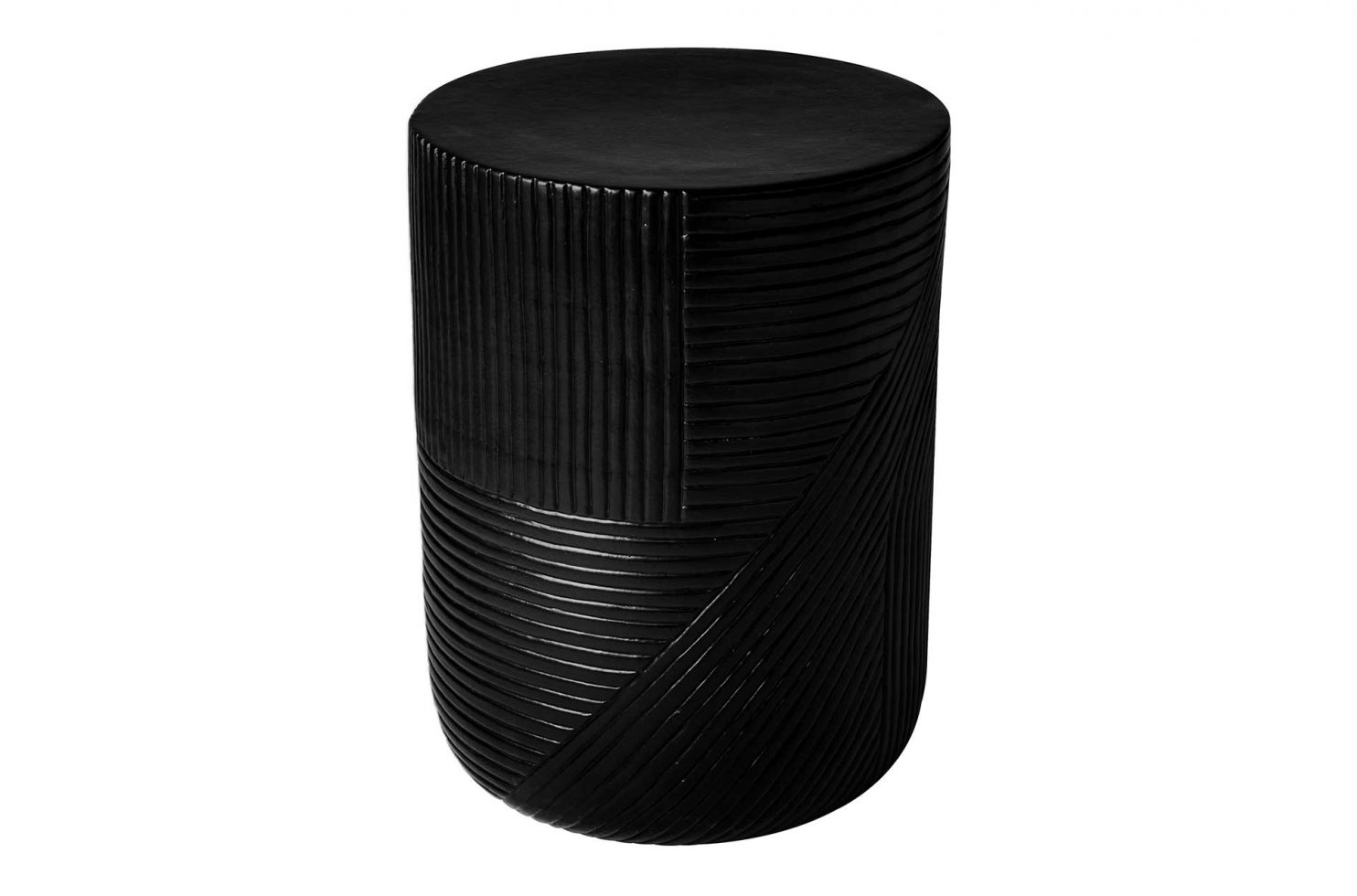 prov cer serenity textured side table 14in C30802532 coal 1 main2 web