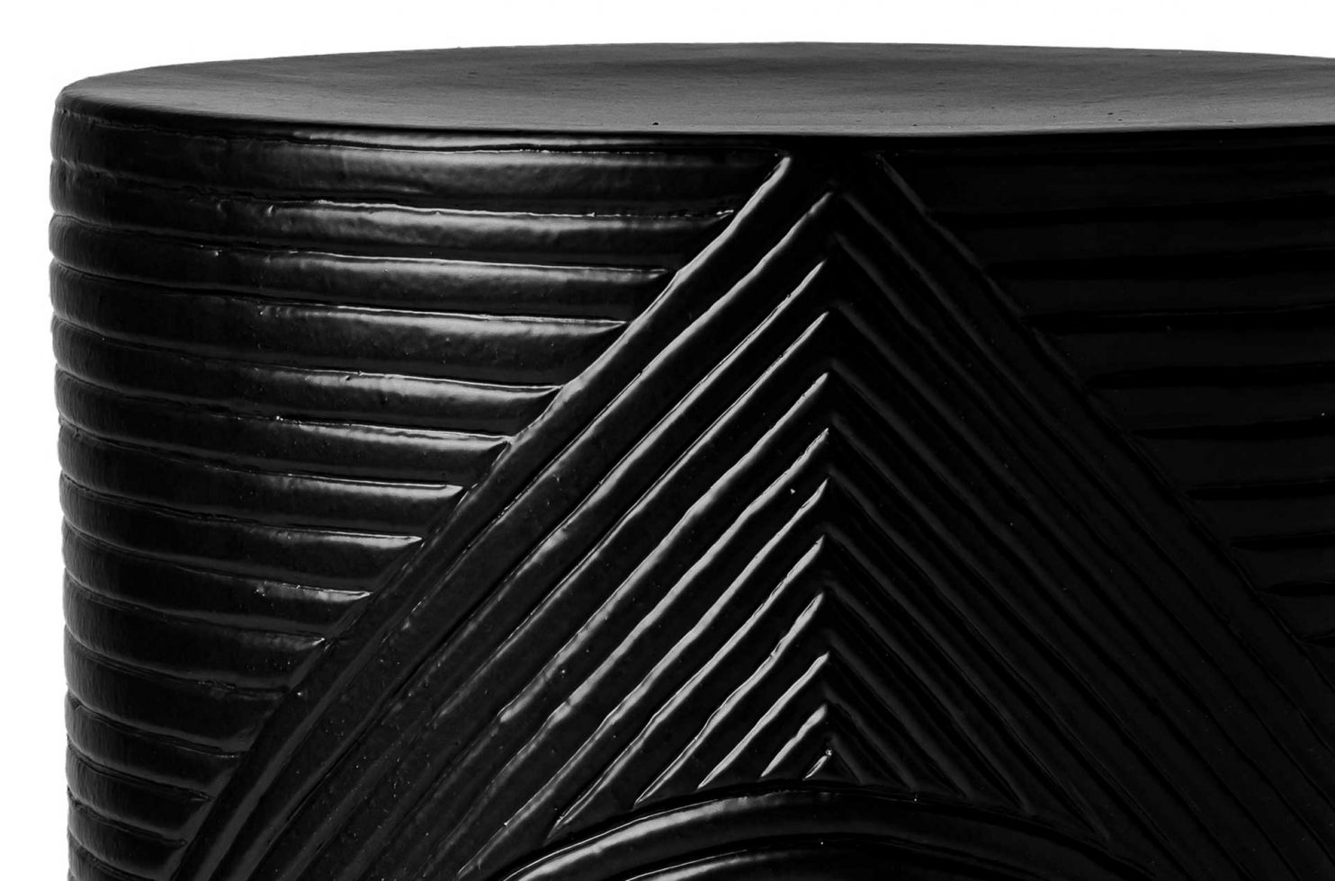 prov cer serenity textured side table 14in C30802532 coal dtl1 web