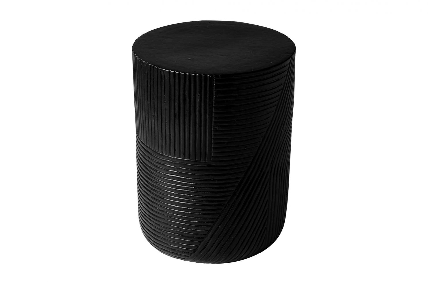 prov cer serenity textured side table 16in C30802032 coal 1 main2 web
