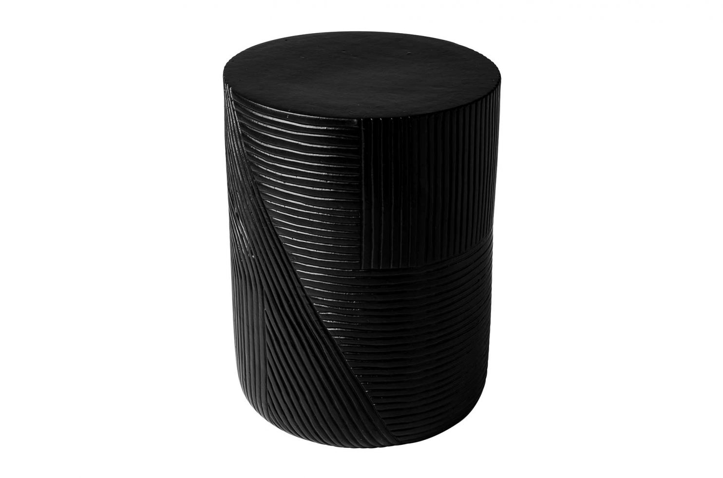 prov cer serenity textured side table 16in C30802032 coal 1 main4 web
