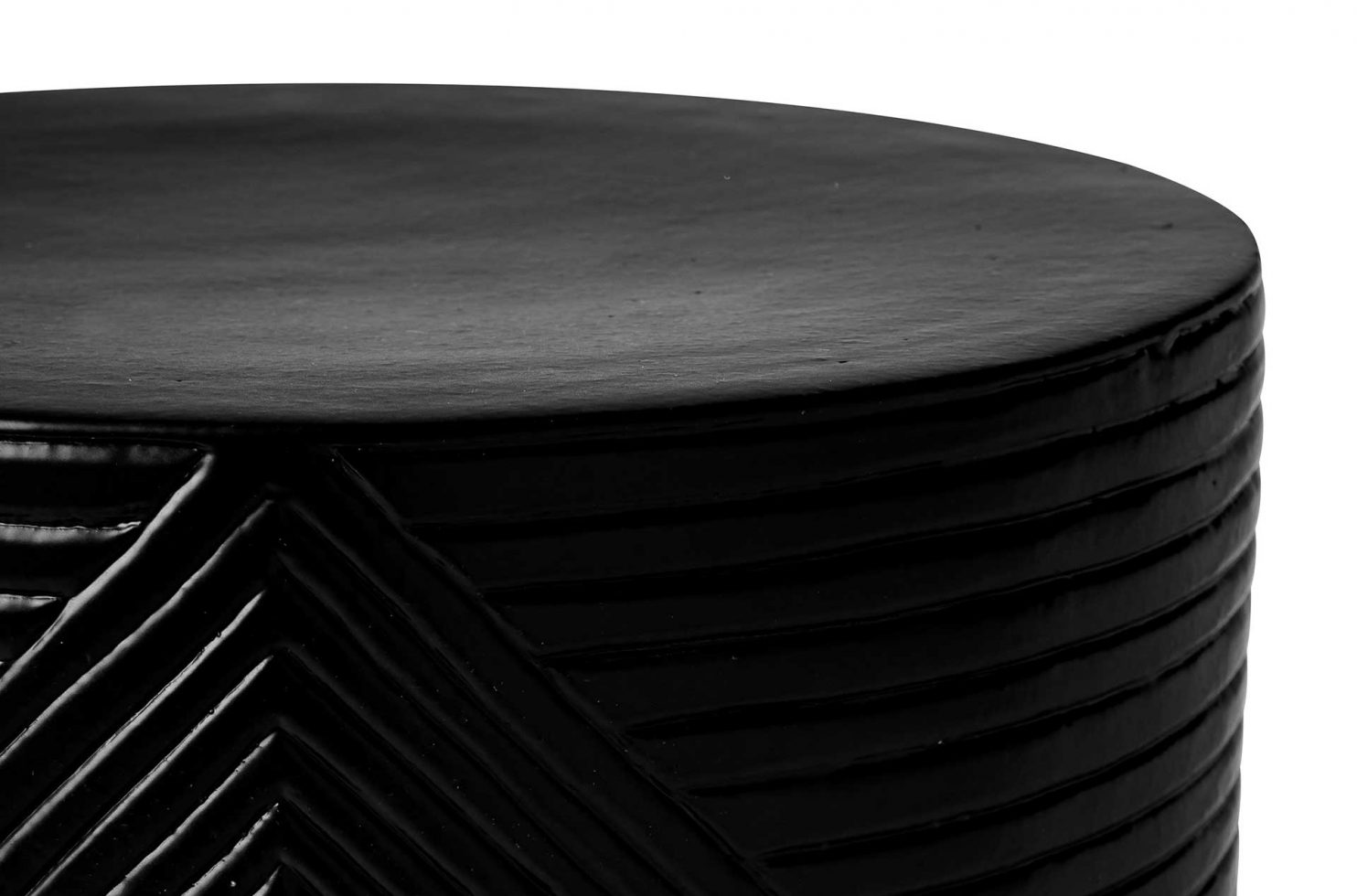 prov cer serenity textured side table 16in C30802032 coal dtl3 web