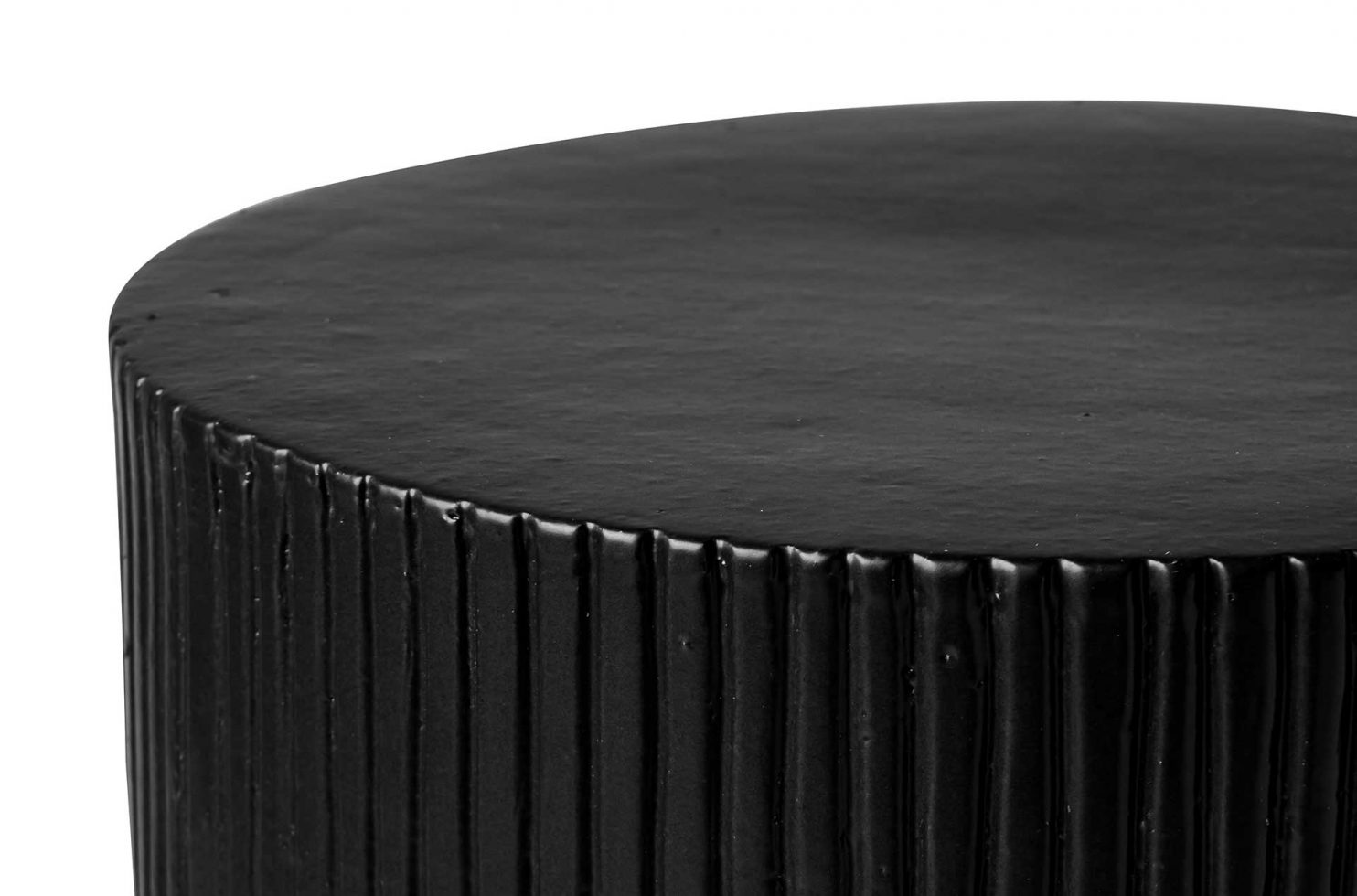 prov cer serenity textured side table 16in C30802032 coal dtl4 web