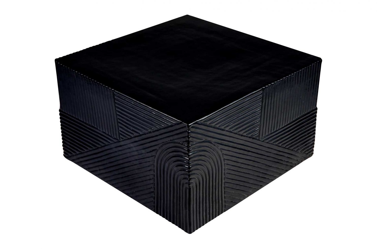 prov cer textured square table 24in C30803032 coal above corner web