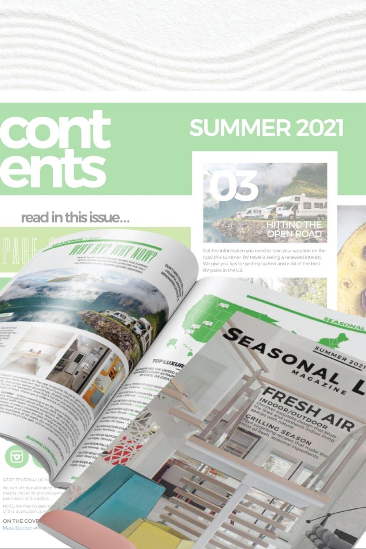 San Diego interior designer Mark Stocker Design on the cover of the Summer 2021 Seasonal Living Magazine