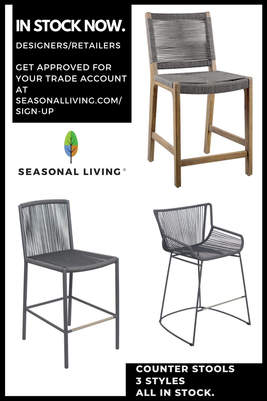 Seasonal Living Counter Chairs